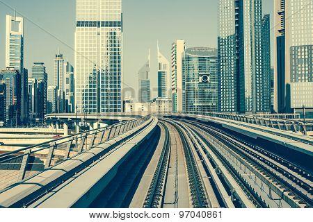 Metro  in Dubai, United Arab Emirates