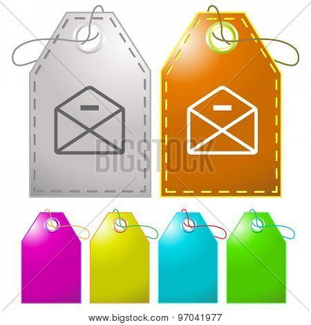 mail minus. Vector tags.
