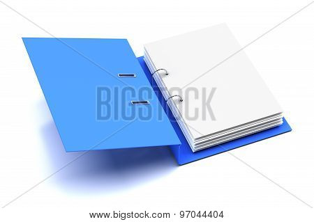 Opened folder with blank page