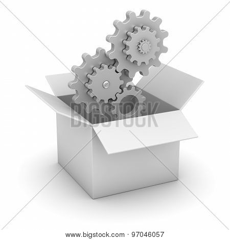 White Box And Gear