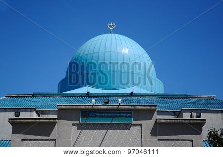 Dome of Sultan Haji Ahmad Shah Mosque a.k.a UIA Mosque in Gombak, Malaysia