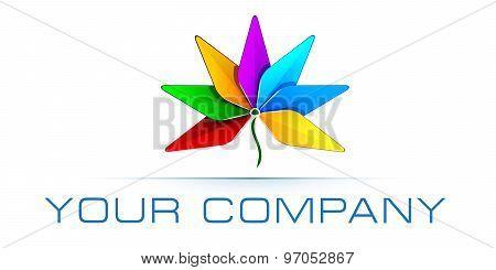Vector logo template, advertising business, resort business, travel, creative agency logo