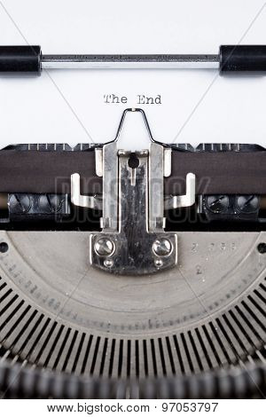 The End Message Printed On Typing Machine