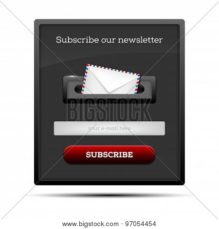 Subscribe Our Newsletter - Website Form