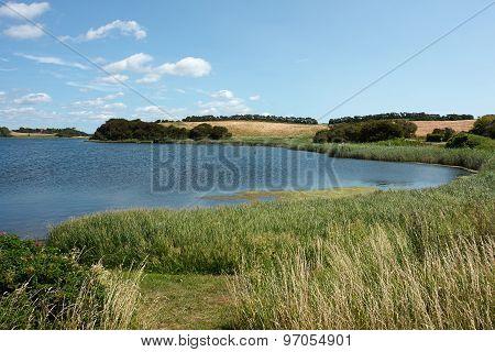 Country Side Lake Funen Denmark