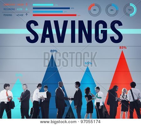 Savings Save Accounting Banking Money Finance Concept