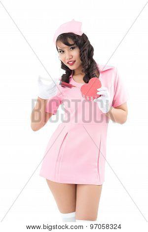 Attractive Vietnamese Nurse