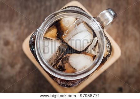 Top View Of Iced Cola
