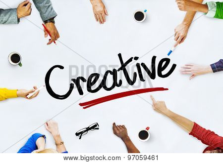Multi-Ethnic Group of People and Creative Concepts