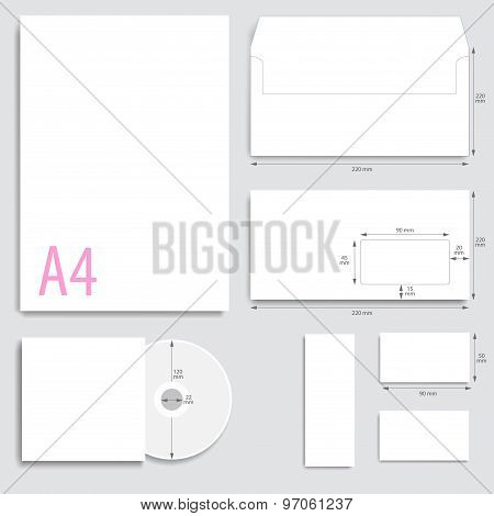 Corporate Identity.envelope Paper, Business Cards, Cd