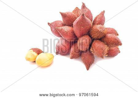Litchi Against On White Background