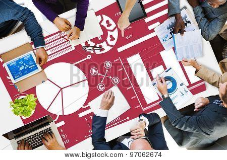 Bar Graph Chart Data Information Report Concept