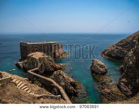 Fort  St John Baptist In Berlenga Island, Portugal