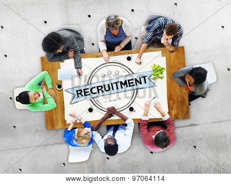 Recruitment Hiring Skills Job Occupation Concept