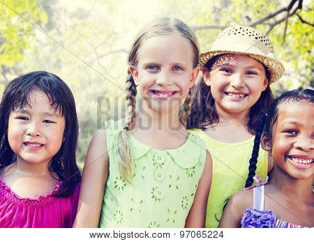 Girlfriends Femininity Friendship Closeness Smiling Concept
