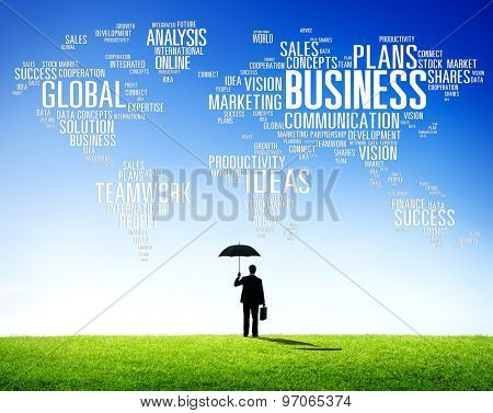 Business Global World Plans Organization Enterprise Concept