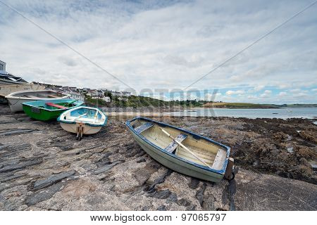 Boats At Portscatho In Cornwall