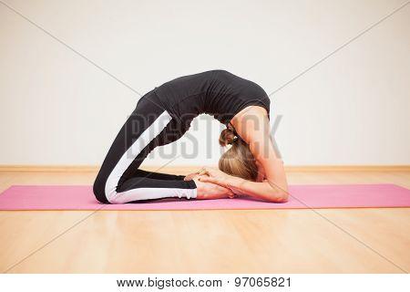 Backbend Pose In A Yoga Studio