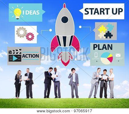 Startup Innovation Planning Ideas Team Success Concept