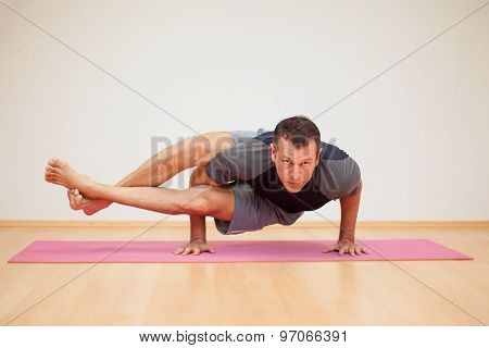 Man Practicing Some Yoga