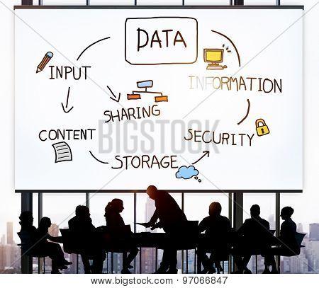 Data Analysis Storage Information Concept