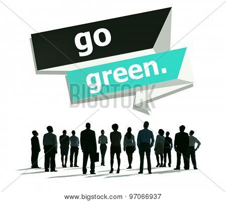 Go Green Environmental Conservation Business Concept