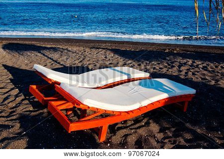 Sunbed On The Beach