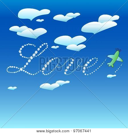 Love-hearts-clouds-in-the-sky-plane-writes
