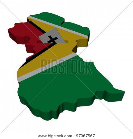 Guyana election map with ballot paper illustration