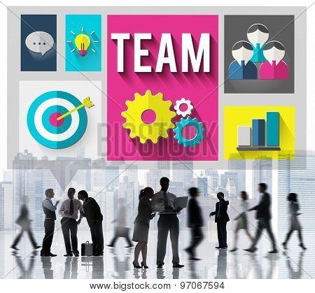 Team Teamwork People Collaboration Concept