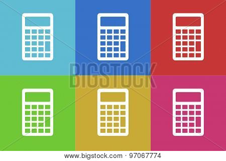 calculator flat design modern vector icons set for web and mobile app