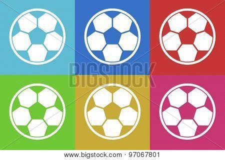 soccer flat design modern vector icons set for web and mobile app