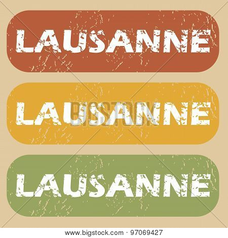 Vintage Lausanne Stamp Set