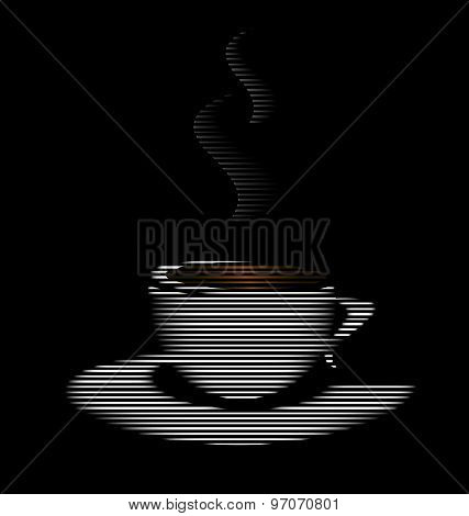 Abstract White Cup