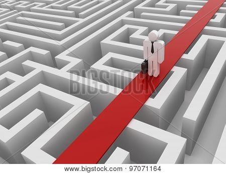 Man On Maze