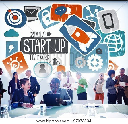 Start Up Launch Growth Success Idea Business Concept