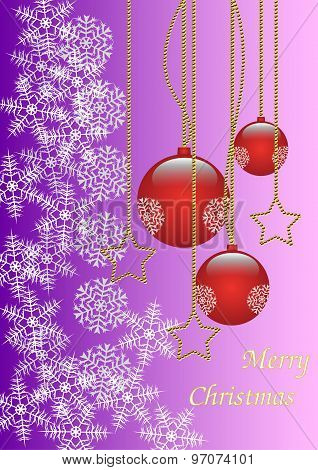 Merry Christmas background gold and red
