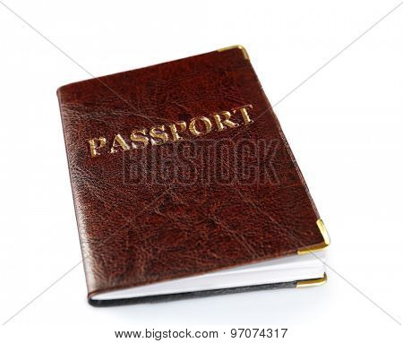Passport isolated on white