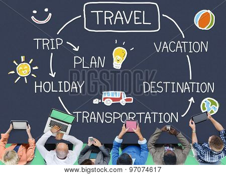 Travel Destination Holiday Vacation Journey Concept