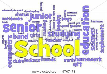 School Word Cloud