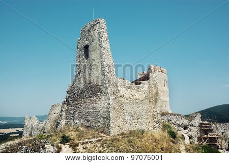 Cachtice Castle In Summer, Slovak Republic