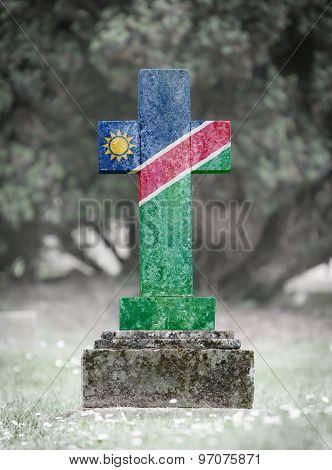 Gravestone In The Cemetery - Namibia