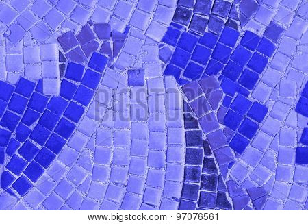 close-up of abstract blue color mosaic seamless background
