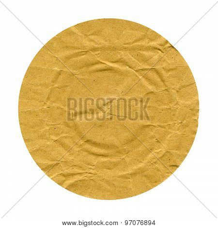 Round Brown Paper Isolated