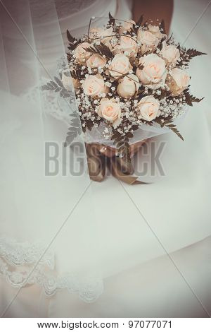bridal bouquet  in the bride's hands
