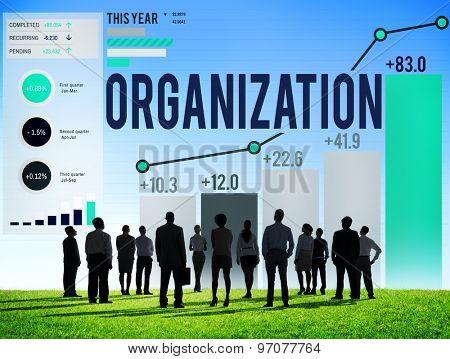 Organization Management Corporate Collaboration Team Concept