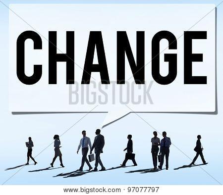 Change Solutions New Innovation Development Concept