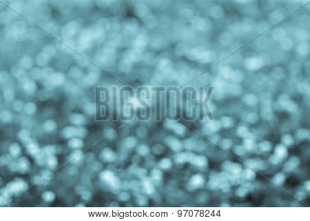Blur Spotty Background Of Turquoise Color