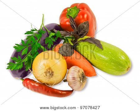 Various Vegetables And Herbs