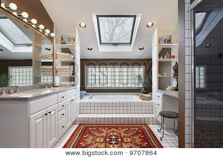 Master Bath With Skylight